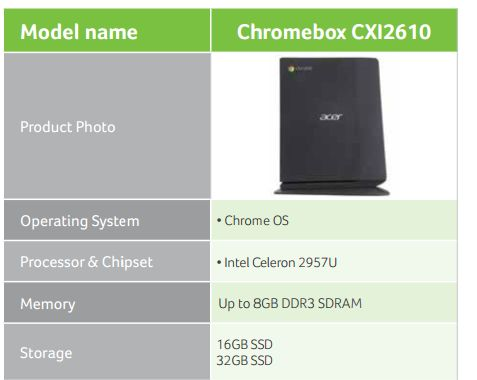 Ноутбук Acer Chromebox