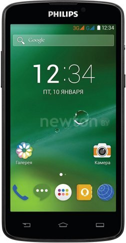 Смартфон  Philips Xenium V387 Black Black