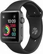 Умные часы Apple Watch Series 1 42mm Space Gray with Black Sport Band [MP032]