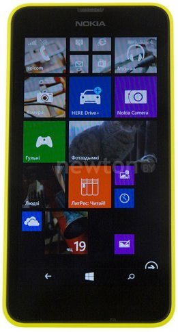 Смартфон  Nokia Lumia 630 Yellow