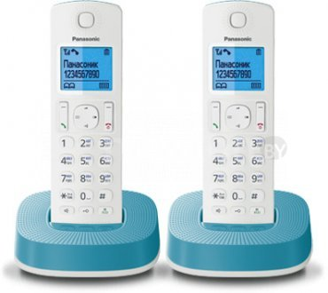 Радиотелефон  Panasonic KX-TGC312RU2 White/Blue