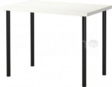 Стол Ikea Линнмон/Адильс (белый/черный) [099.321.77] купить в Минске - цены в интернет-магазине NEWTON.BY, отзывы